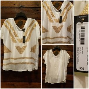 Worthington white and gold top!
